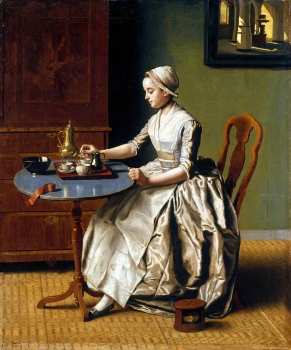 Jean Etienne Liotard - La ragazza che versa il cioccolato